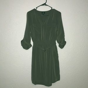 Olive green pulse size dress with pockets!